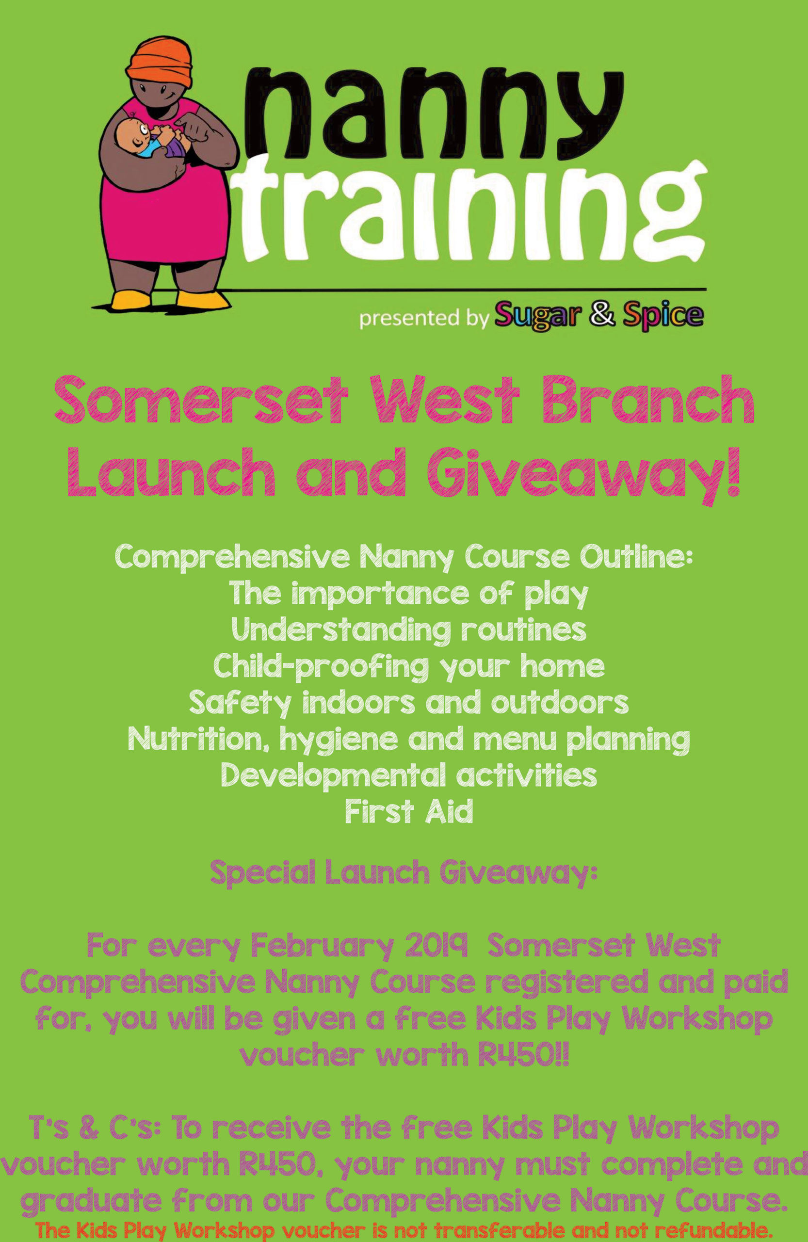 NANNY TRAINING | COMPETITION | SOMERSET WEST LAUNCH